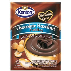 KENTON Cikolata ve Findikli Puding 100gr x 24 pcs / Pudding au chocolat et noisettes