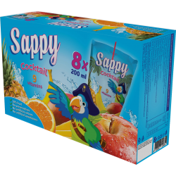 SAPPY Boisson Cocktail  9 vitamins (200 ml x 8) x 2