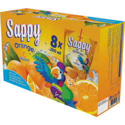 SAPPY Boisson Orange C vitamin (200 ml x 8) x 2