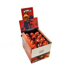 Oeuf Surprise Plastique MIRACULOUS 24 pcs