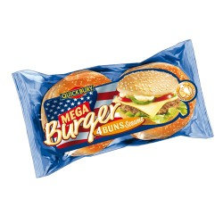 QUICKBURY Pains Mega Burger (4pcs) 300 gr x 7 pcs