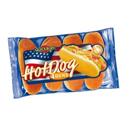QUICKBURY Pains Hotdog (4pcs) 250 gr x 8 pcs
