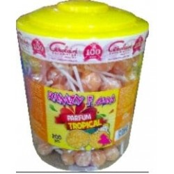 RAMZY Sucettes Fizzy gum Super colorante arôme Tropical x200pcs