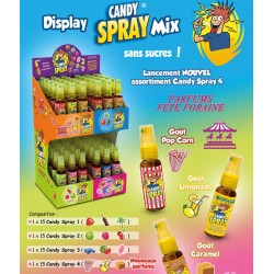 CANDY SPRAY Display 60 pieces