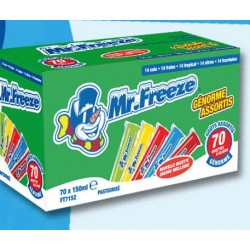 Mr FREEZE Genorme assortis 150mlx70pcs